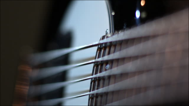 slo mo special effects musical instruments - bass guitar stock videos & royalty-free footage
