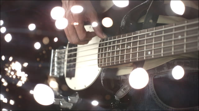 slo mo special effects musical instruments - ギター点の映像素材/bロール