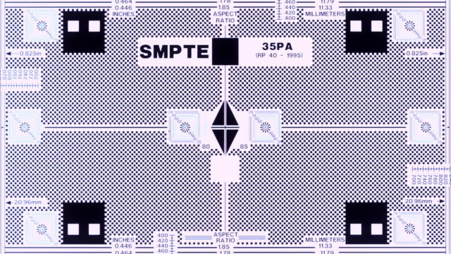 smpte framing chart, test pattern - test pattern stock videos & royalty-free footage