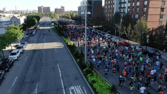 thousands of runners after start - salmini stock videos and b-roll footage