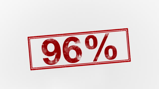 96% - percentage sign stock videos & royalty-free footage