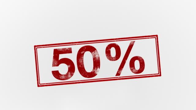 -50% - パーセント記号点の映像素材/bロール