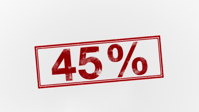 45% - パーセント記号点の映像素材/bロール