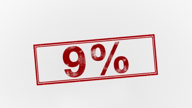 9% - パーセント記号点の映像素材/bロール
