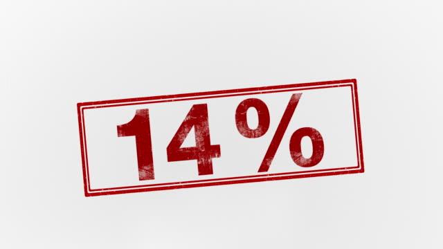 14% - パーセント記号点の映像素材/bロール