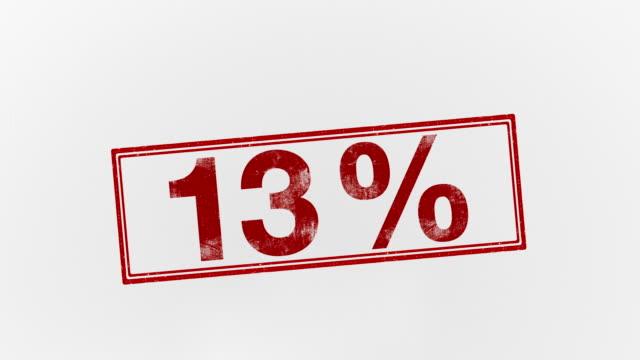 13% - パーセント記号点の映像素材/bロール