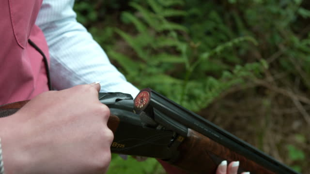clay pigeon shooting - clay pigeon shooting stock videos & royalty-free footage