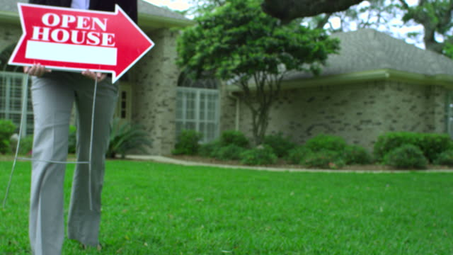 open house for sale-realty sign-1080hd - open house stock videos & royalty-free footage