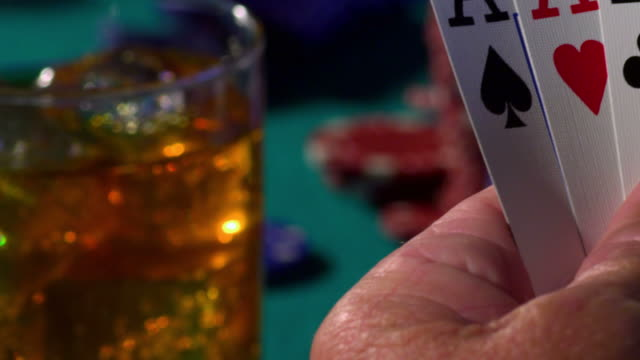 poker-5 aces-1080hd - group of objects stock videos and b-roll footage