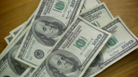 $100 bill money-4 shots-1080hd - exchanging stock videos & royalty-free footage