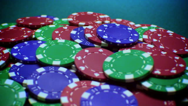 poker chips-4 shots-1080hd - gambling chip stock videos & royalty-free footage
