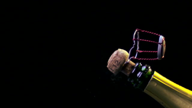 CHAMPAGNE CORK AND CAGE EXPLODING-SLOW MO-1080HD