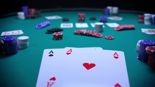 poker texas hold-em-big hands-3 shots-1080hd - hand of cards stock videos & royalty-free footage