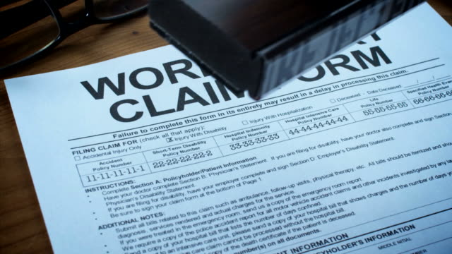 work injury claim forms-1080hd - physical injury stock videos and b-roll footage