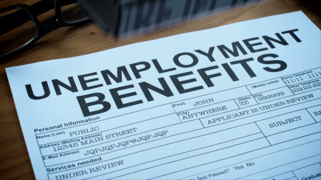 unemployment benefits forms-1080hd - unemployment stock videos and b-roll footage