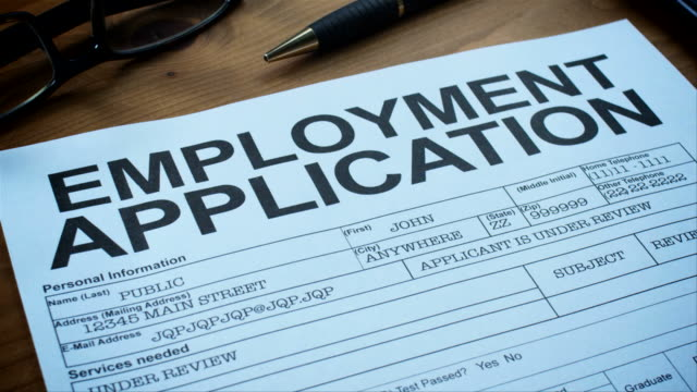 employment application forms-1080hd - unemployment stock videos and b-roll footage