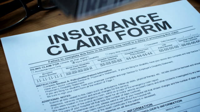 insurance claim form-1080hd - insurance stock videos & royalty-free footage
