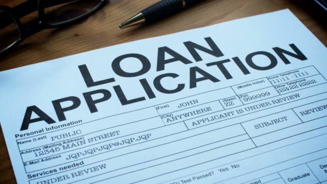 loan application form-1080hd - loan stock videos & royalty-free footage