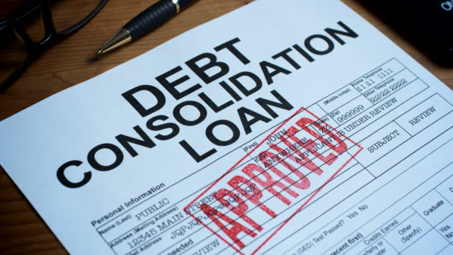 debt consolidation form-1080hd - debt stock videos & royalty-free footage