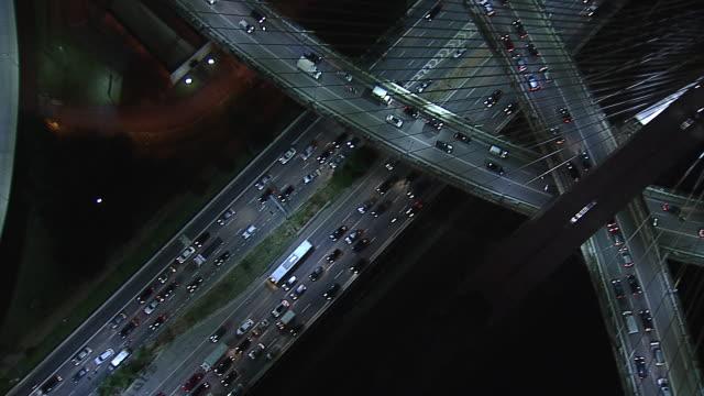 vídeos de stock, filmes e b-roll de brazil - são paulo- aerial view - avenida