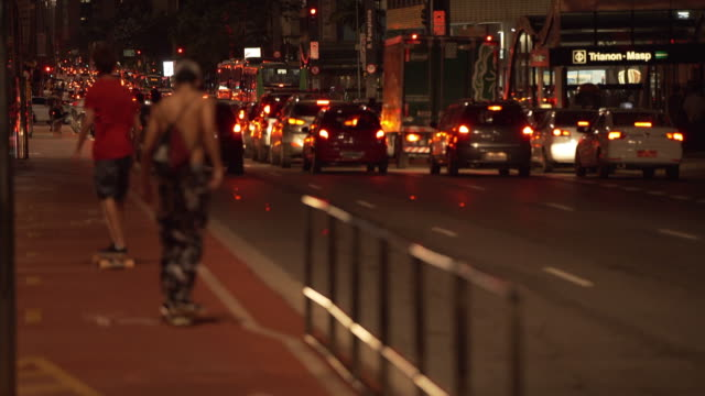 brasil - downtown são paulo - avenida stock videos & royalty-free footage