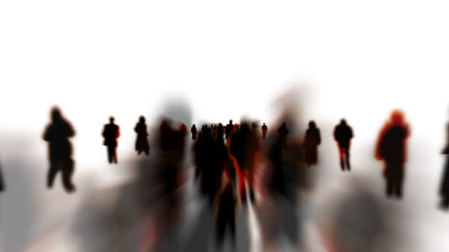 INFINITE CROWD - ENDLESS WHITE SPACE: SERIES_CROWD_T4 (loopable)