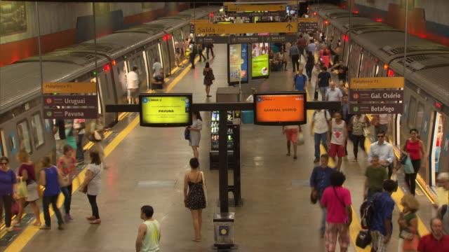 brazil - rio de janeiro - passenger train stock videos & royalty-free footage