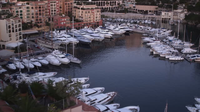 scenics of monaco harbour - monaco stock videos and b-roll footage