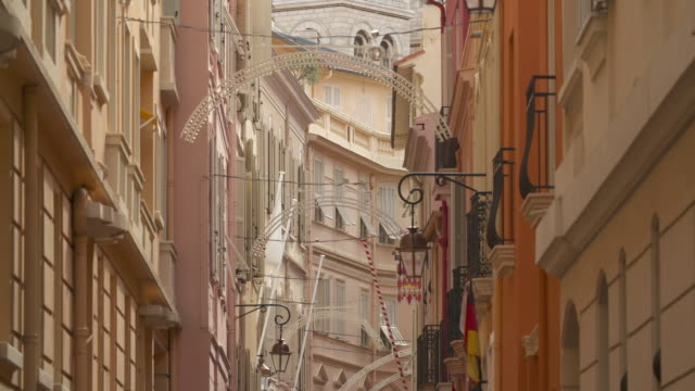 a street in monaco - monaco stock-videos und b-roll-filmmaterial