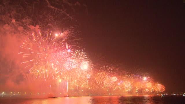 brazil - rio de janeiro - neujahr stock-videos und b-roll-filmmaterial