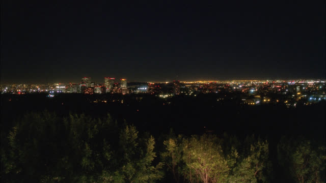 wide angle of city skyline. could be century city. high rises, apartment buildings, and office buildings. - century city stock-videos und b-roll-filmmaterial