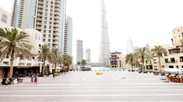 cityscape in dubai - burj khalifa stock videos & royalty-free footage