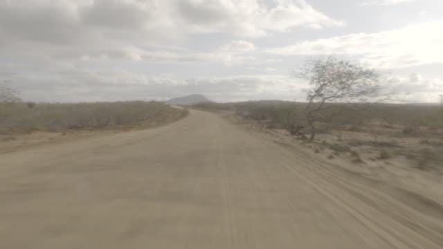 vídeos de stock, filmes e b-roll de dirt road - drivr pov - land