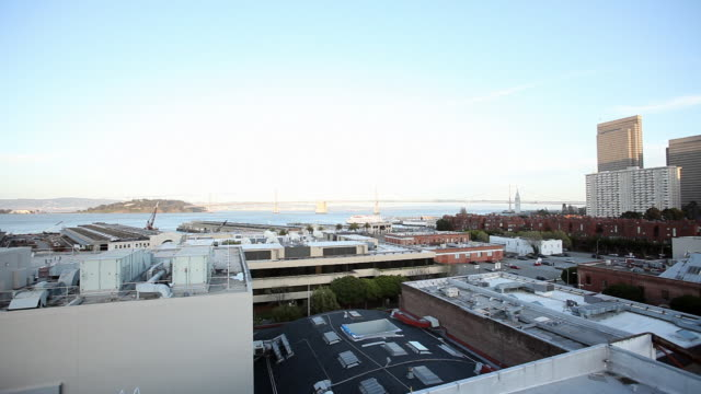 Wide Angle Of Bay Bridge And Yerba Buena Island In San Francisco Skysers