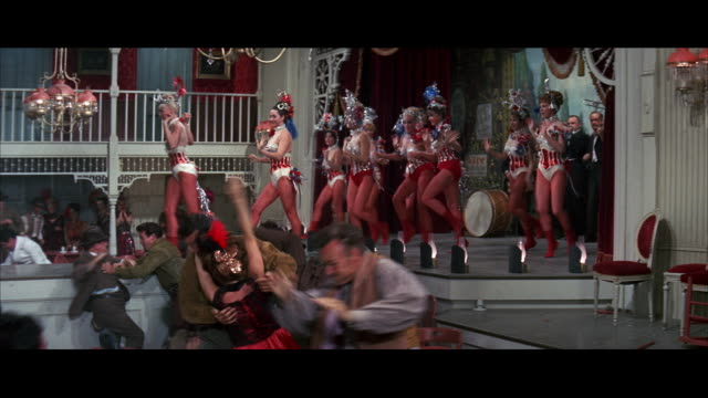 SALOON - BARROOM BRAWL - GIRLIE SHOW ON STAGE - WATCH FOR PRINCIPAL? NEGATIVE CUT 224-232.