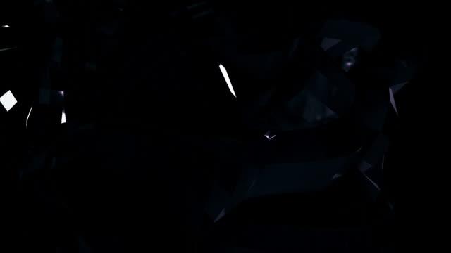 vídeos de stock e filmes b-roll de dark crystal light blocks - liquid crystal display