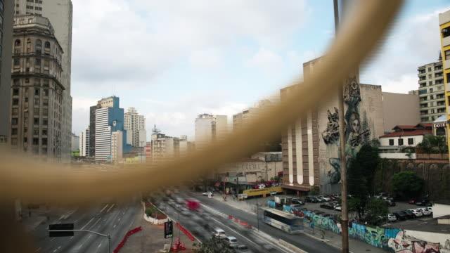vídeos de stock, filmes e b-roll de brazil - são paulo time lapse - vida urbana