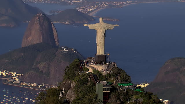 vídeos de stock, filmes e b-roll de brazil - rio de janeiro - ponto turístico internacional