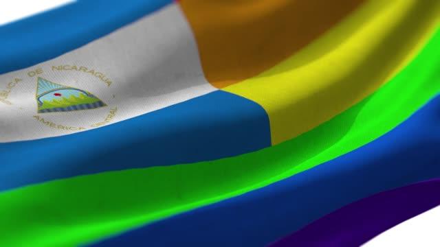 ニカラグアプライドフラッグ - マナグア点の映像素材/bロール