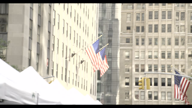 pan right to left of nbc news offices, rockefeller center. - nbc stock videos & royalty-free footage