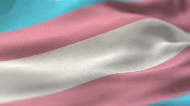 vídeos de stock e filmes b-roll de transgender pride flag - bandeira da grã bretanha
