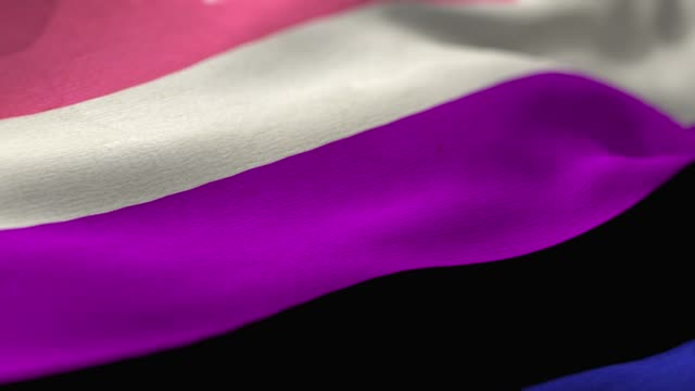 gender fluid flag - gender symbol stock videos & royalty-free footage