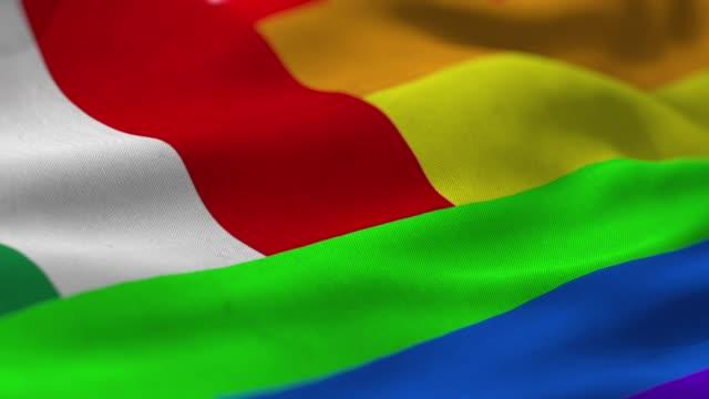 pride flag: italy - bandiera video stock e b–roll