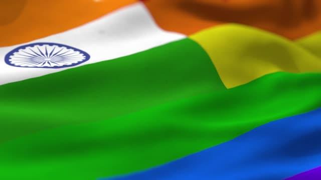 vidéos et rushes de drapeau de la fierté: inde - royaume uni