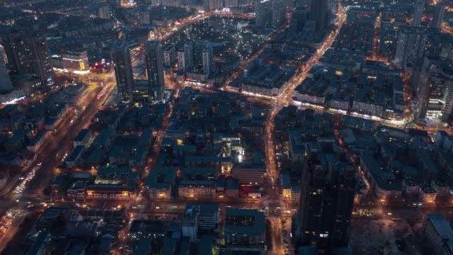 hyperlapse aerial view of city - liyao xie stock videos & royalty-free footage