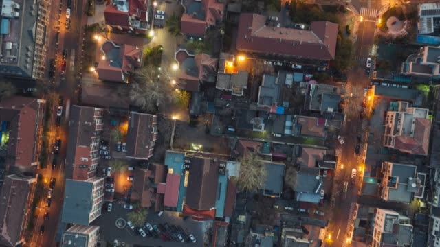 hyperlapse of residential district - liyao xie stock videos & royalty-free footage