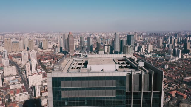 aerial view of business district - nanjing road stock videos & royalty-free footage
