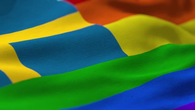 pride flag: sweden - equality stock videos & royalty-free footage