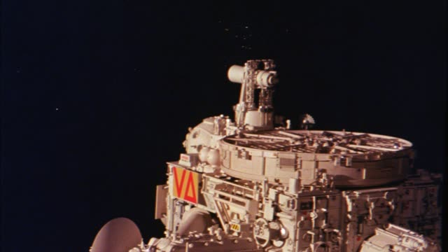 wide angle of spaceship or space station in outerspace. space. - spaceship stock videos & royalty-free footage
