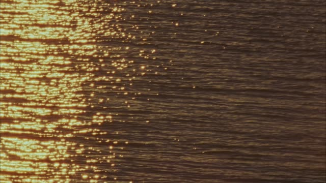 vidéos et rushes de medium angle of sailboat bow sailing through water. sun refection on the waves. - proue